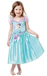 Rubies 641356TODD Disfraz clásico de jazmín de princesa Disney con lentejuelas, para niños de 2 a 3 años, altura de 98 cm, para niñas, multicolor