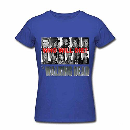 Womens 09 The Walking Dead Summer T-shirts Zombie L