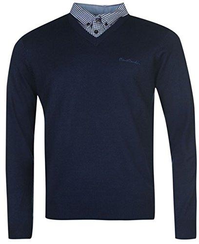 mens-knitwear-mock-v-neck-jumper-xx-large-dark-blue