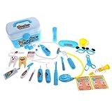 B Blesiya 26-teilig Kinder Arztkoffer Doktor Arztköfferchen Rollenspielzeug Set für Kleinkind ab 3 Jahren - Blau