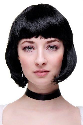 Frauen Schwarze Perücken (WIG ME UP ® - PW0114-P103 SCHWARZER BOB sexy Damenperücke Karneval)