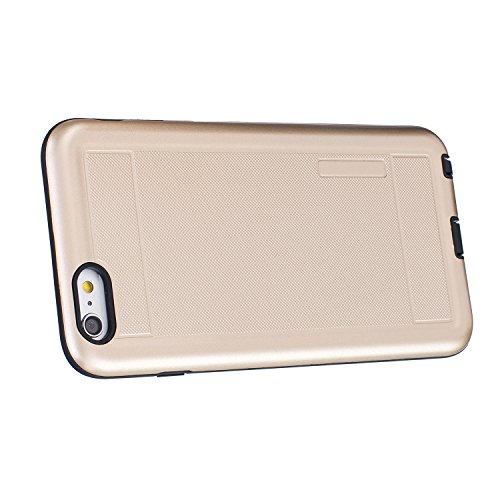Voguecase® Pour iPhone 6 Plus/6S Plus 5,5, [TPU+PC]Coque de protection double couche pour Apple iPhone 6 Plus/6S Plus 5,5 [Technologie Air Space Cushion] Absorption des chocs améliorée, Ajustement Par Modèle de point-Or