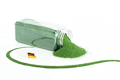 Sable coloré / sable décoratif TIMON, vert mousse, 0,1-0,5 mm, bouteille de 605 ml, fabriqué en Allemagne - Sable fin décoratif - monsterkatz