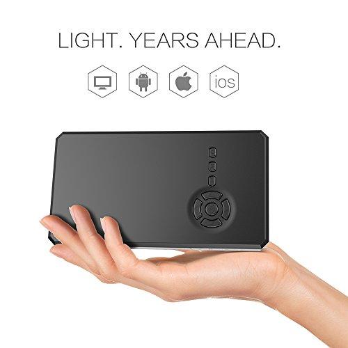 Beawelle Full HD Mini Beamer, Portable Projektor, für TV Laptop Smartphone( nur für Zuhause Theater!!! Nicht für PPT Rede )