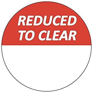 Audioprint Ltd. 1000 Pack of Reduced To Clear Stickers 30mm Red