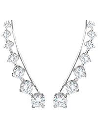 selovo pendientes para orejas perforadas, mujeres y niñas,plata de ley, diamante tono plateado