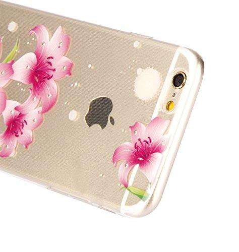 iPhone 6 Plus/ 6s Plus Coque Housse Etui, iPhone 6 Plus Silicone Rose Gold Scintiller Glitter Coque, iPhone 6s Plus Or Rose Coque en Silicone Placage Coque Clair Ultra-Mince Etui Housse, iPhone 6 Plus Diamant-lis