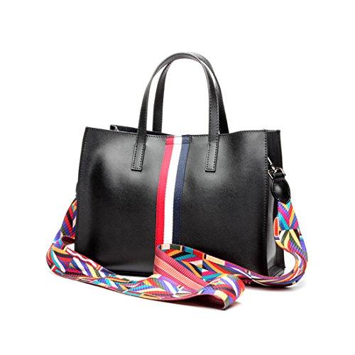 Plover Donna Pelle di mucca borsetta Totalizzatore Borse a tracolla Borsa Crossbody Fashion style Black