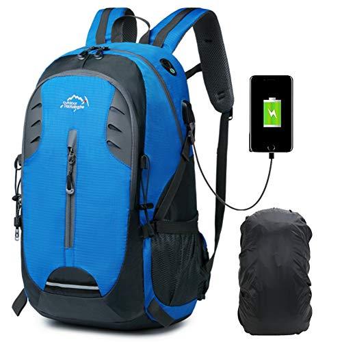 Zaino da trekking da viaggio impermeabile da 30l zaino da trekking durevole per escursionismo all'aperto per le donne degli uomini (blu01)