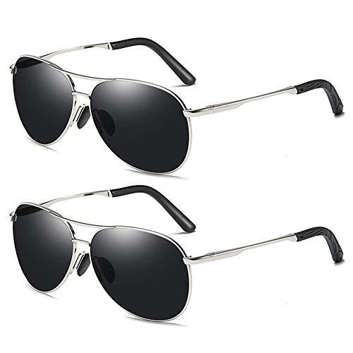 Polarisierte Sonnenbrille Europa Und Amerika Herren Farbwechsel Sonnenbrille Tag Und Nacht Vision Dual Polarizer (2er Pack)