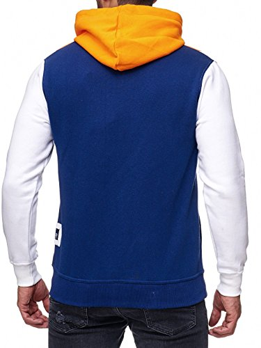 Rusty Neal Sweatshirt Mix Herren Sweat Hoody Kapuze Reißverschluss 19043 Orange