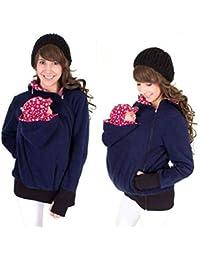 Gsaknc Winter Baby Carrier Hoodies,Tragejacke für Mama Känguru Tasche Mantel Jacke Mit Baby Halter Pullover
