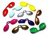 Generico ricevi 2 occhialini plastica Parasole per Proteggere Occhi dal Sole Colori a Sorpresa Misti in Omaggio amuleto Portachiavi Corno