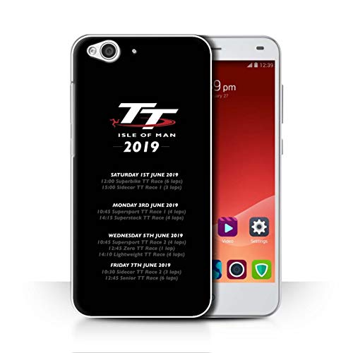 Isle of Man TT Officiel Coque/Etui pour ZTE Blade S6 / TT Jours Course 2019 Design/TT Logo Collection