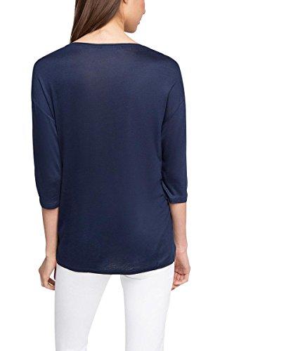 ESPRIT Collection Damen Langarmshirt 026eo1k008-Kuschelig Weiche Qualität Mehrfarbig (NAVY 400)