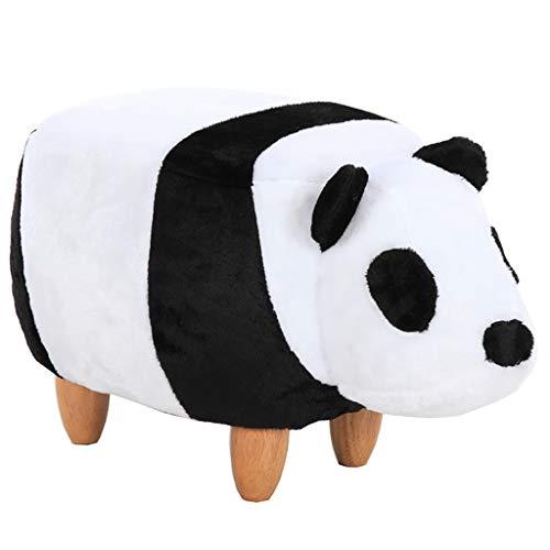 Taburete De Dibujos Animados Puf Otomano De Madera Panda con 4 Patas T