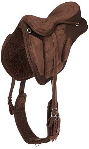 Cwell Equine synthetischen alle Zweck baumlosen Sattel braun Größen 40,6cm/41,9cm/43,2cm 44,5cm (40,6cm).