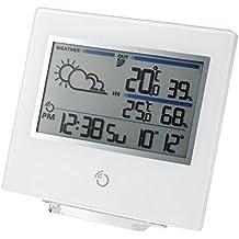 Oregon Scientific BAR-800 - Estación meteorológica con pantalla ultra plana de 10 mm, color blanco
