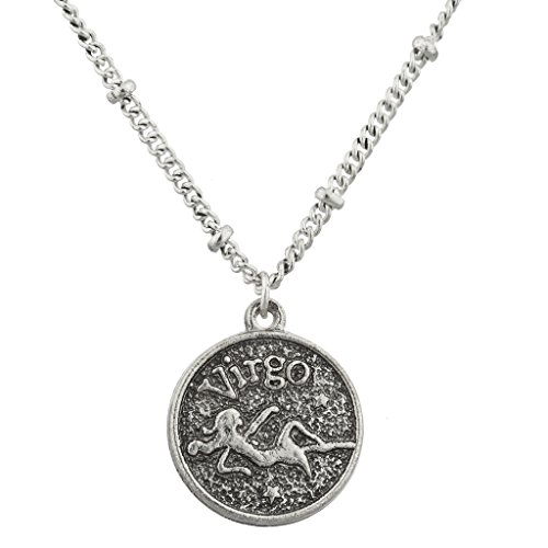 lux-accessories-burnish-silver-virgo-astrological-pendant-charm-necklace