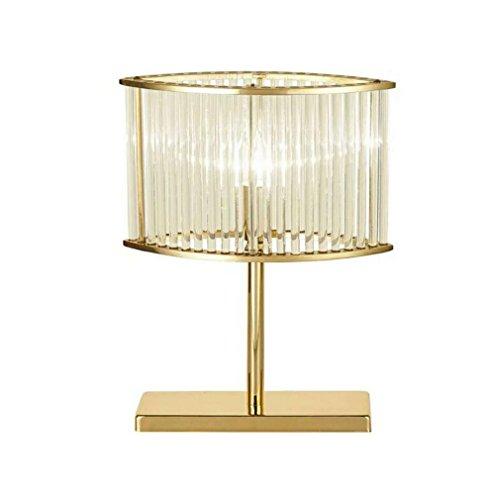 OOFAY BXD Glas Crystal Rod Golden Desk Light, LED Tischleuchte Modern Luxury Gold Tischleuchte Lampe (Gold Stehleuchte Finish Antique)