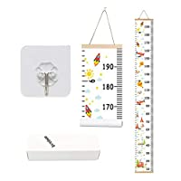Kids Growth Chart,Bingolar Children Height Chart Growth Wall Chart Height Wall Chart Art Hanging Rulers for Kids Bedroom Nursery Wall Decor Removable Height and Growth Chart(F 7.9 x 79in)