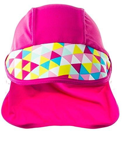 AquaWave Kinder Strandmütze Bademütze - idealer Sonnenschutz für Strand, Schwimmbad, See - atmungsaktiv und schnelltrocknend - Triny, Rosa