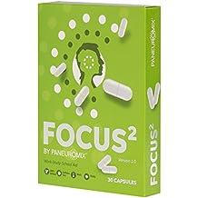 FOCUS² Integratore alimentare in pillole, senza Caffeina, per la concentrazione e l'attenzione: Fortifica l'energia, la motivazione e la forza mentale