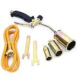 Gasbrenner Dachbrenner Gaslötgerät 3tlg. Regelbar Abflammgerät Brenner SN0286