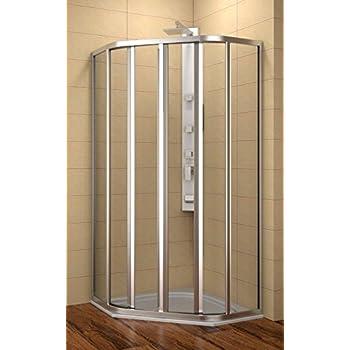duschkabine 90x90 cm 5 eck dusche 90x90x185 cm lxbxh radius 55 cm dusche f nfeck 90x90 cm. Black Bedroom Furniture Sets. Home Design Ideas
