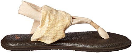 Sanuk Women's Yoga Sling Sequins Flip Flop Natural