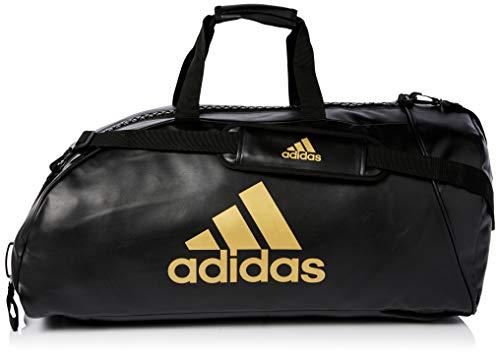 """adidas \"""" 2 in 1 \"""" PU KUNSTLEDER schwarz gold - Größe L - Tasche & Rucksack 75 x 35 cm Sportrucksack und Sporttasche Trainingstasche Rucksacktasche Kombitasche Sport Bag"""