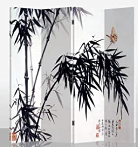 203-509 Fine Asianliving Paravento Divisori Tela 4 Pannelli Pieghevole Separatore/Water Lilies Claude Monet L160xH180cm