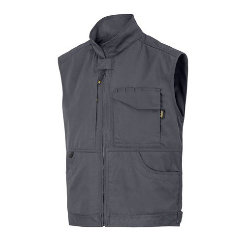 Snickers Workwear Service Weste, Größe XXL, stahlgrau, 4373
