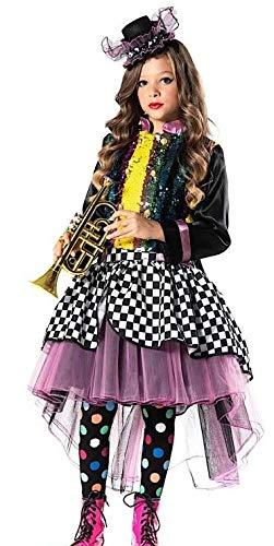 Wunderland Deluxe Kostüm Mädchen Alice Im - Fancy Me Mädchen-Kostüm Alice im Wunderland mit Pailletten in Italien hergestellt; 4-10 Jahre