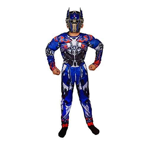 ASJUNQ COS Kleidung Kinder Captain America Iron Man Optimus Prime Grüner Riese Spiderman Kleidung Performance Kleidung Halloween,E-S