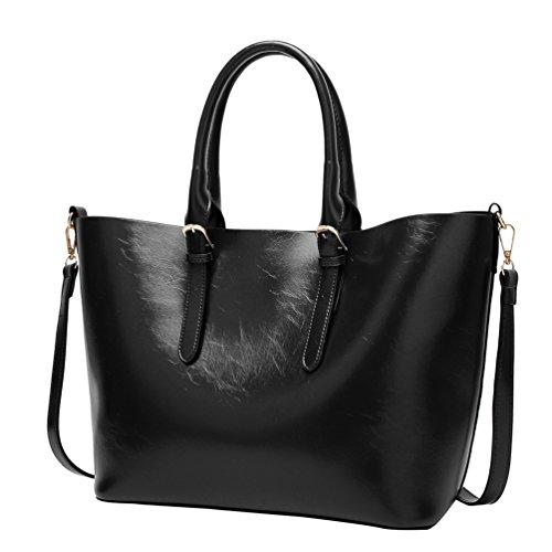 YiLianDa Modetrend Handtaschen Schulter Tasche Handtaschen Frauen Handtasche Schwarz