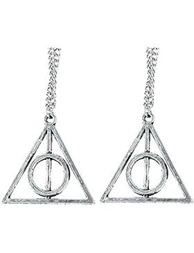 Pinzhi 2x Silber Ton Film Harry Potter Deathly Hallows Legierung Anhänger Kette Halskette