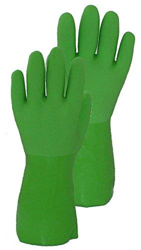 Wonder Handschuhe nahtlos 100Prozent Baumwolle Liner Vinyl Handschuh, klein, grün -