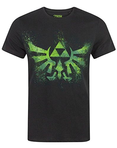 Zelda Green Triforce Logo Men's T-Shirt (M)