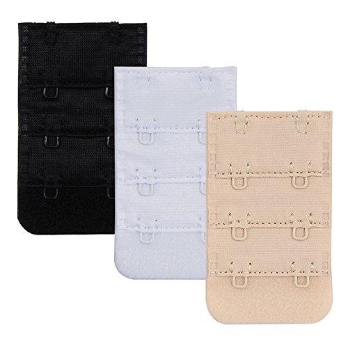 Closecret Nylon BH Extender von Frauen, Packung mit 3 Stück, Multi-Größe für sich entscheiden (2 Hacken 3/4 Inch Abstände) (Man Hacke Kostüm)
