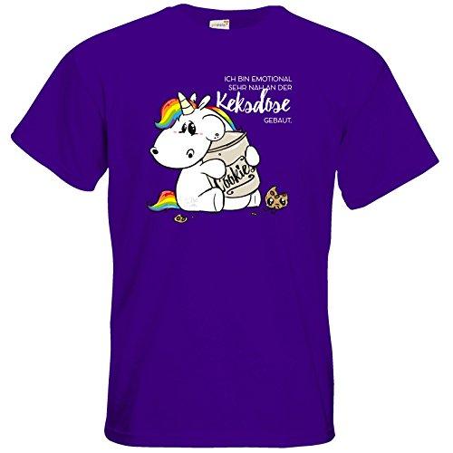 getshirts - Pummeleinhorn - T-Shirt - Keksdose Purple