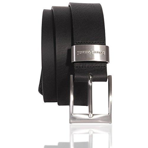 Bruno Banani Ledergürtel Herren / Gürtel Herren, Vollrind-Leder schwarz, Größe / Size:110, Farbe / Color:schwarz