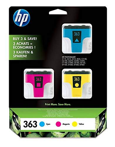 HP 363 Multipack Original Druckerpatronen (1x Blau, 1x Rot, 1x Gelb, für HP Photosmart)