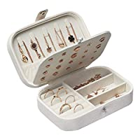 STURME Jewellery Box for Girls Women PU Leather Jewellery Organiser for Rings Earrings Necklace Bracelets Various Compartments to Store All Sort of Jewellery