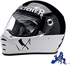 a51364721507a Casco integral Biltwell Lane divisor Rusty Butcher homologado blanco negro  universal X Moto Harley y custom