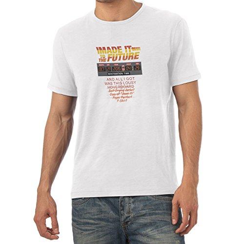 NERDO - I made it to the Future - Herren T-Shirt Weiß