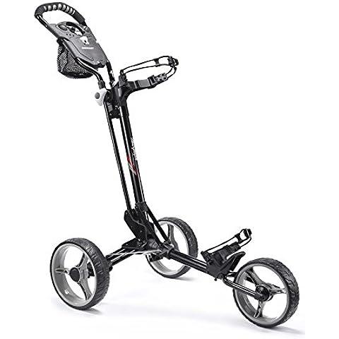 Mac Gregor Compact 3 - Carrito de golf de mano con ruedas, color negro / gris