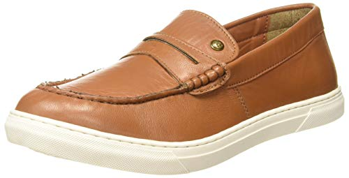 Numero Uno Men's Tan Leather Moccasins-9 UK/India (44 EU) (TMSECD94)