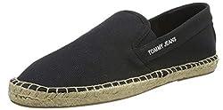Hilfiger Denim Herren Tommy Jeans Flag Espadrilles, Schwarz (Dark Grey 990), 42 EU