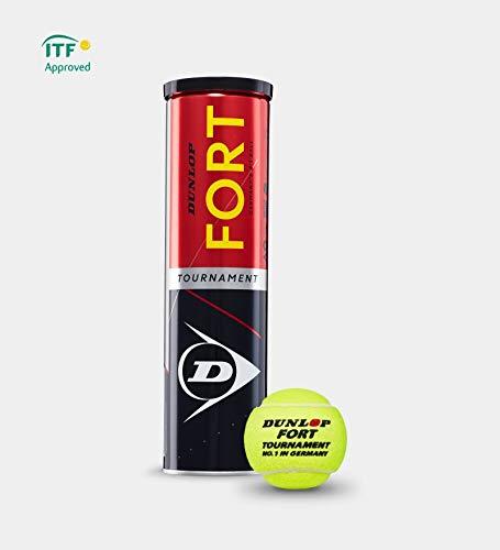 Dunlop - Fort Tournament - Tennisbälle - 12 Bälle (3 Dosen mit - Tournament Tennisbälle